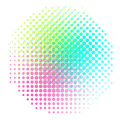 Background colorful halftone gradient vector. Abstract backround with colorful halftone elements. Geomeric retro background.