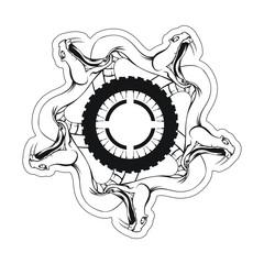 Snake Head Motocross Logo Sticker