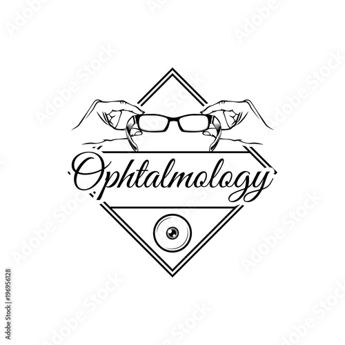 Eye Icon Glasses Icon Ophthalmology Badge Vector File Stock