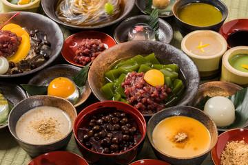 和スイーツ traditional Japanese Sweet taste desert