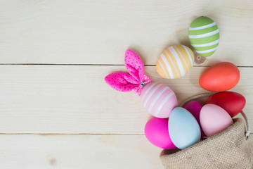 Happy Easter Day. Bunny egg decoration for celebrate in April.