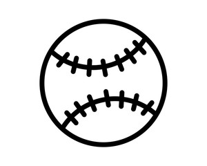 softball icon sport equipment tool utensil image vector