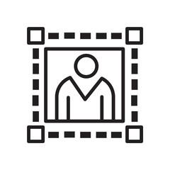 digital profile photo icon