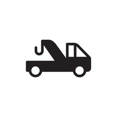 evacuation truck, evacuation service filled vector icon. Modern simple isolated sign. Pixel perfect vector  illustration for logo, website, mobile app and other designs