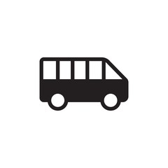 minibus, school bus filled vector icon. Modern simple isolated sign. Pixel perfect vector  illustration for logo, website, mobile app and other designs