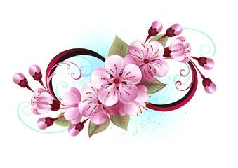 Infinity with sakura blossom