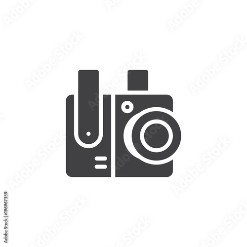 Cctv Surveillance Camera Vector Icon Filled Flat Sign For Mobile