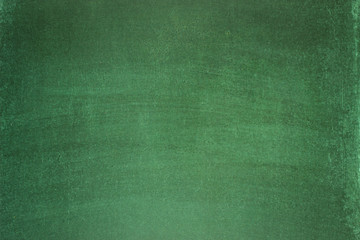 green chalkboard. blank background texture of a clean blackboard