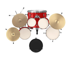 Red Drum Kit Isolated