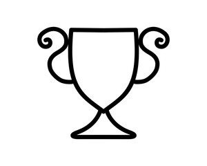 trophy cup icon sport equipment tool utensil image vector
