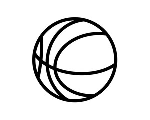 basketball icon sport equipment tool utensil image vector