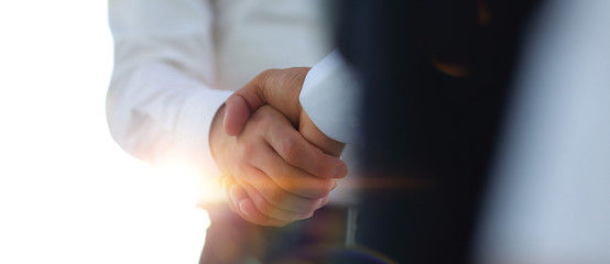 Business handshake and business people. Business concept.