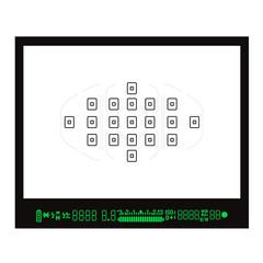 Focusing screen or Viewfinder of DSLR camera. Vector illustration.