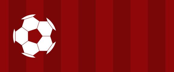 football soccer red banner