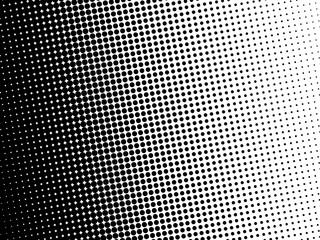 Halftone dots pattern. Black circle point on white background.