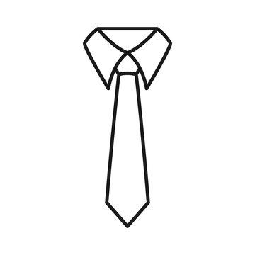 businessman tie icon, Tie Icon in trendy flat style