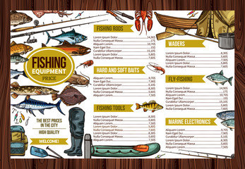 Vector fisherman sport fishing equipement price
