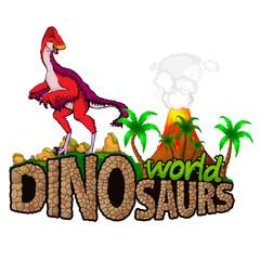 Logo  Dinosaurs World. Vector illustration.