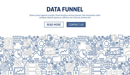 Data Funnel Banner Design