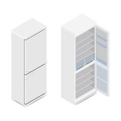 Isometric refrigerator icon