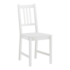 Chair mock up isolated on white background. Vector illustration