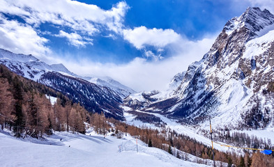 Courmayeur (Italy) is a very popular ski resort in Europe