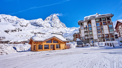 Cervinia (Italy) is a very popular ski resort in Europe