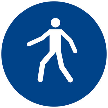 Use this walkway sign