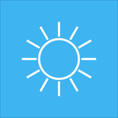 sun icon white and blue sky