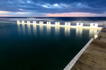 Merewether Ocean Baths - Newcastle Australia. The Merewether Ocean baths are one of the largest in the world and are an iconic Newcastle Landmark.