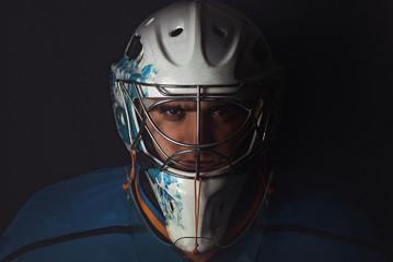 Hockey goalie in the mask