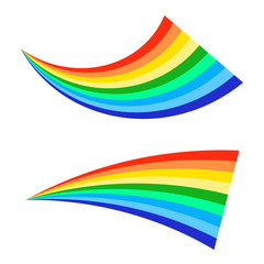 Rainbows icon on a white background. Flat vector illustration EPS