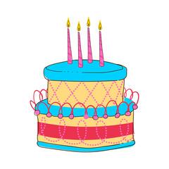 Birthday cake vector collection