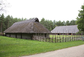 Thatched house at Rocca al Mare open air museum, Tallinn