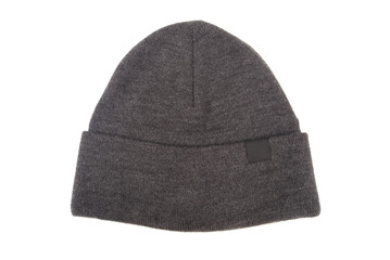 Grey woolen hat