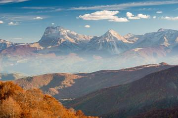 Il Massiccio del Gran Sasso visto dai Monti della Lega, Abruzzo
