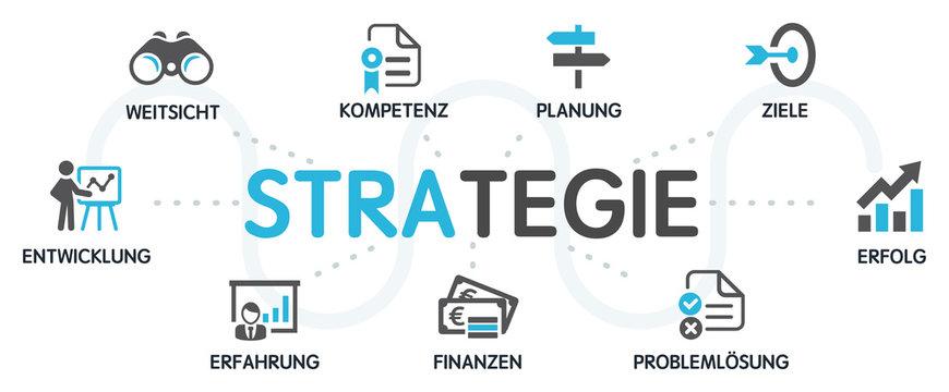 STRATEGIE Vektor Grafik Icons Priktogramme