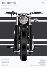 Poster Chopper Motorcycle isolated Vector Illustration