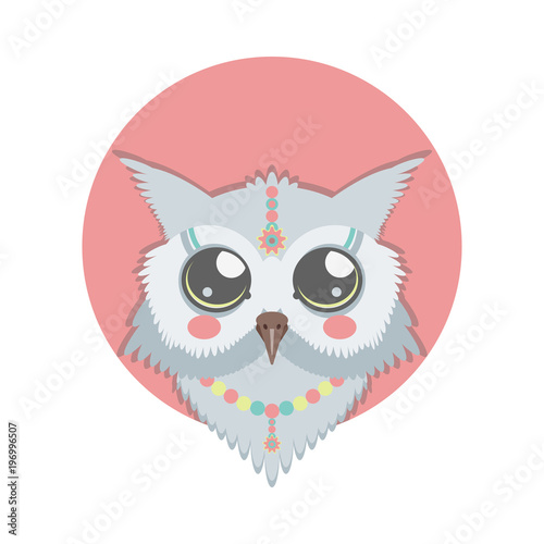 vector template with cute owl for card poster flyer and other