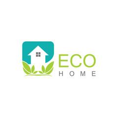 Square eco home logo