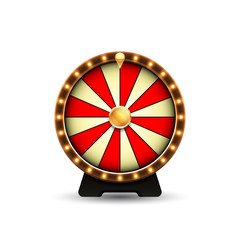 Wheel of fortune isolated on white background