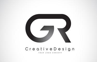 GR G R Letter Logo Design. Creative Icon Modern Letters Vector Logo.