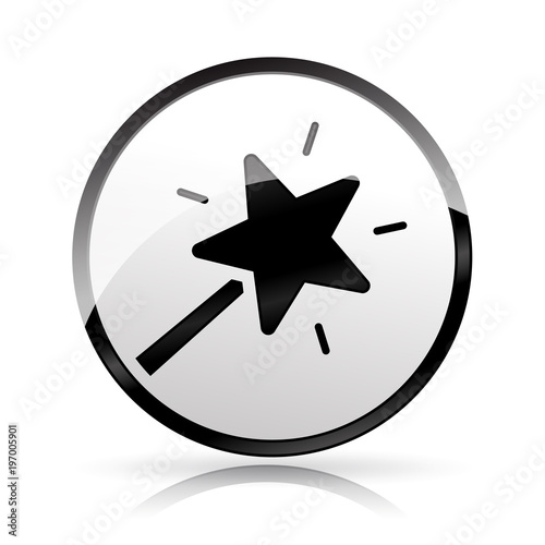 Magic Wand Icon On White Background Stock Image And Royalty Free