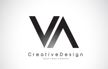 VA V A Letter Logo Design. Creative Icon Modern Letters Vector Logo.