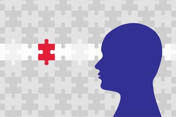 ジグソーパズル 問題を解決するピースを発見 Jigsaw puzzle, Discover the piece of Solution