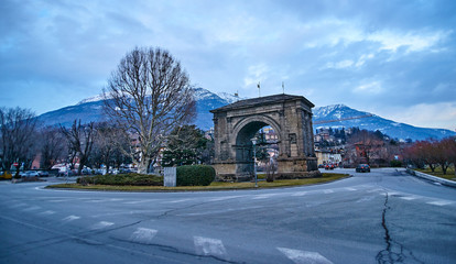 Arch of August in Aosta (Italy)