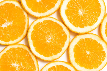 Fresh, juicy slices of orange. Orange fruit background