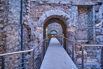 Porta Preatoria Aosta Valle d`Aosta - Italy