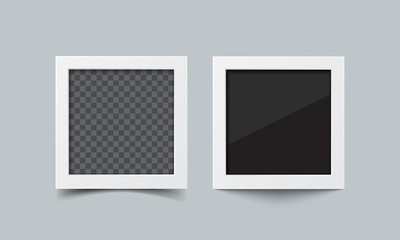Photo frame vector realistic illustration