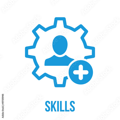 Skills Icon With Add Sign Skills Icon And New Plus Positive